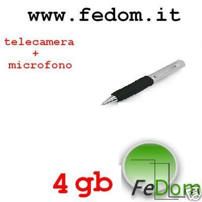 Spy Pen registratore vocale e video 4 GB FED0068