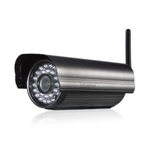 Telecamera IP WIFI fissa H264, 520 TVL, Sony CCD,  da esterno, con  infrarossi, Audio bidirezionale, 3G, controllo iPhone