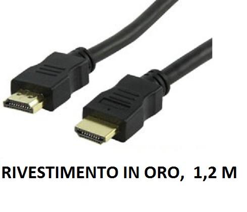 Cavo HDMI 1.4  3D rivestimento oro