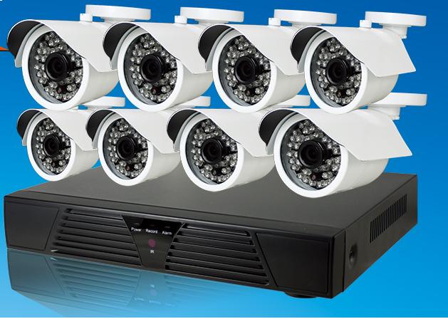 Kit videosorveglianza NVR HD 8CH Megapixel 960p Onvif + 8 Telecamere  IP 720p per interno esterno ed alimentatori