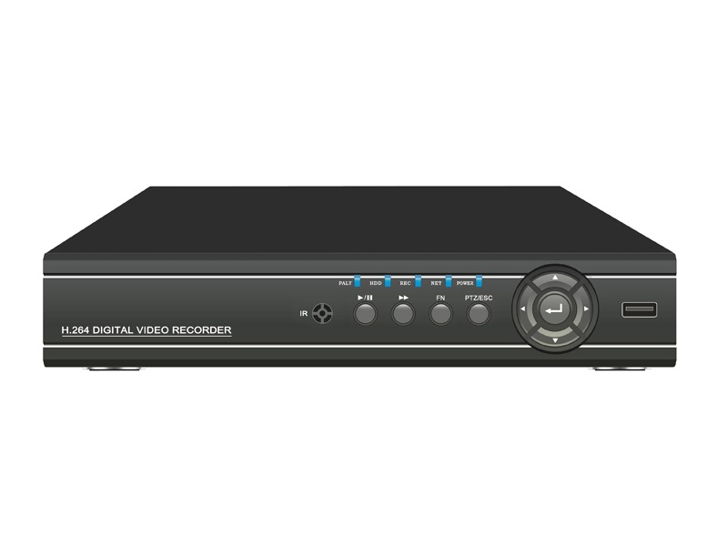 DVR Digital Video Recorder 8CH Video input BNC, 4CH audio input RCA PTZ Control box sata HDD