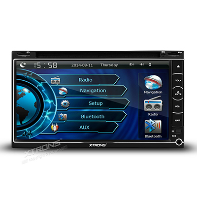 "XTRONS TD699G 6.95"" HD Digital Touch Screen  Double Din DVD Player GPS Navigator"