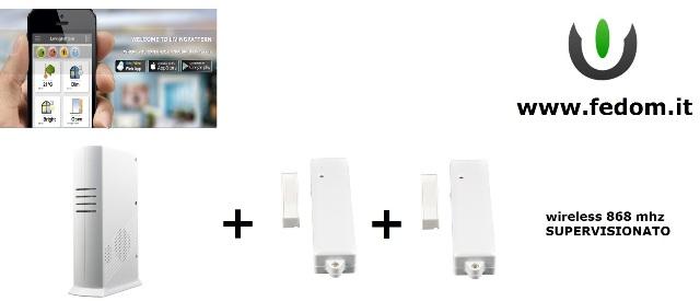 KIT ALLARME WIRELESS CASA GSM USB  UFFICIO 868MHZ SUPERVISIONATO CONTROLLO VIA SMARTPHONE BB01