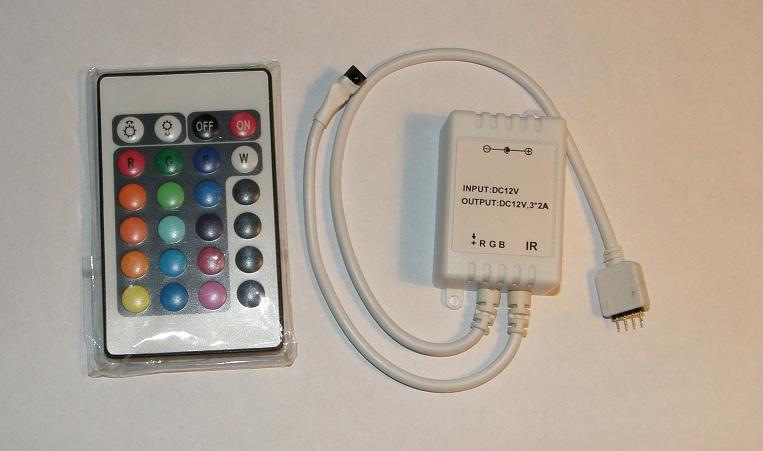 Controller IR Infrarossi per strisce strip di LED  RGB