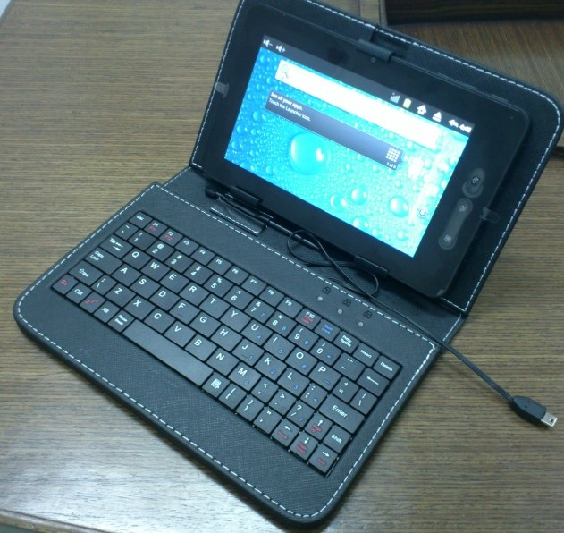 Custodia con tastiera USB per Tablet PC 8 pollici, leather case con keyboard, cover