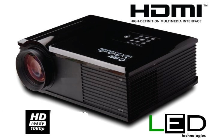 Video proiettore LED LCD Risoluzione nativa 720p (HDReady 1080p full HD)  HDMI