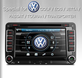 Autoradio per VolksWagen Golf (EOS Jetta Passat Touran Transportes) con GPS e DVB-T Xtrons PF71MTV