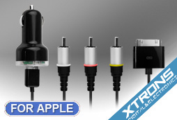 XTRONS APC Cavo Audio Video per Apple Iphone Ipad Ipod Composito USB e adattatore per auto