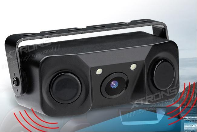 XTRONS CAM716 3 in 1 Telecamera retromarcia con Sensori di parcheggio con ampio angolo di visualizzazione
