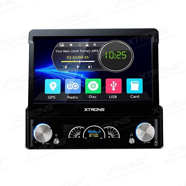 """Xtrons D719G Autoradio 1 din 7"""" HD display motorizzato GPS bluetooth comandi al volante predisposto per DAB"""